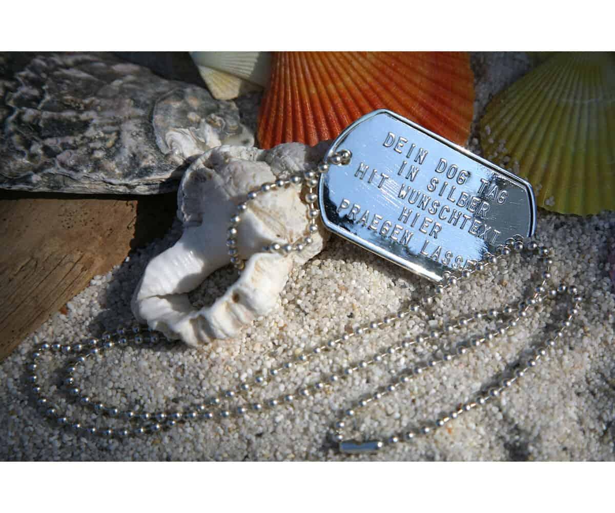 Dog Tag aus Silber
