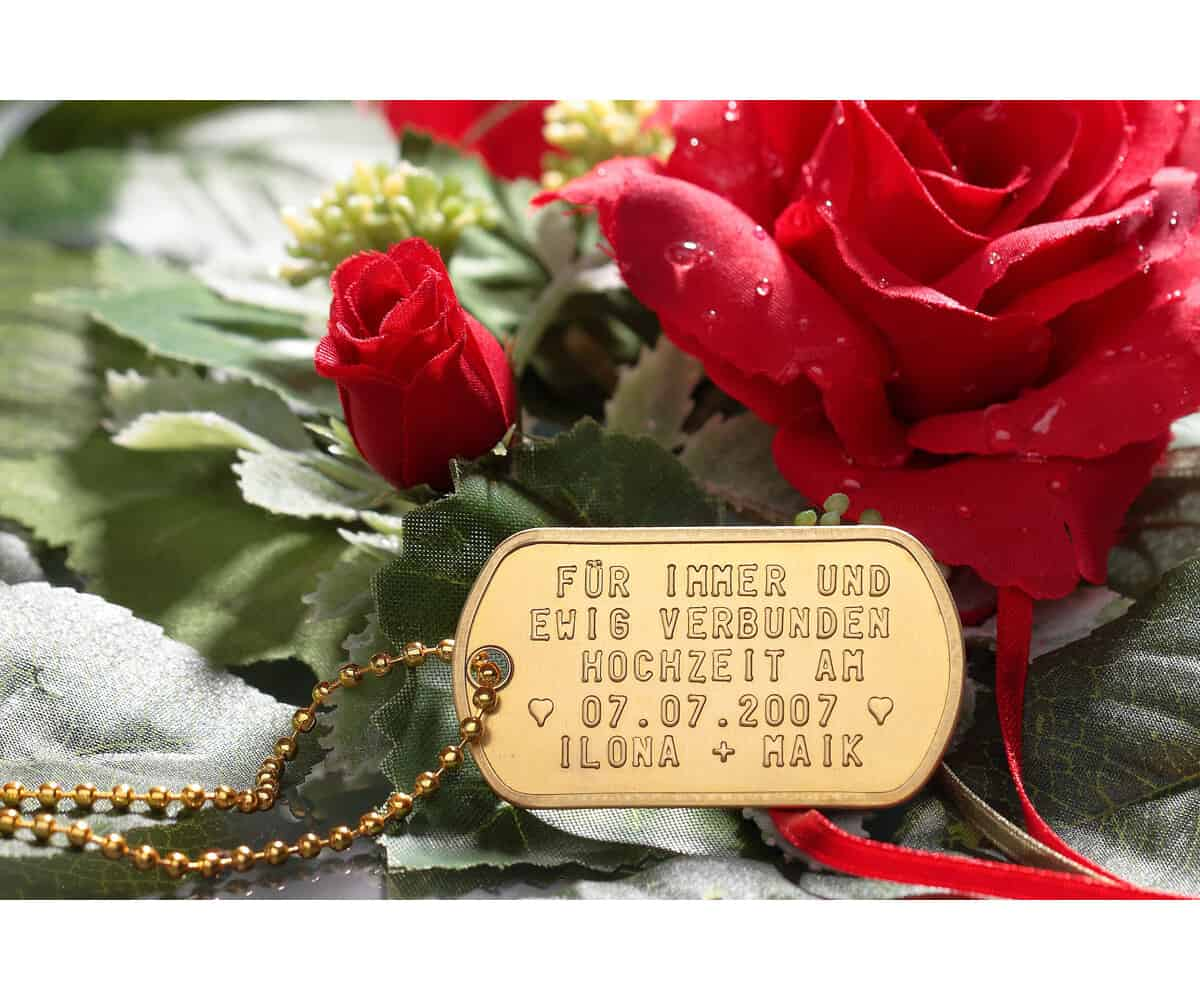 Dog Tag Goldfarben